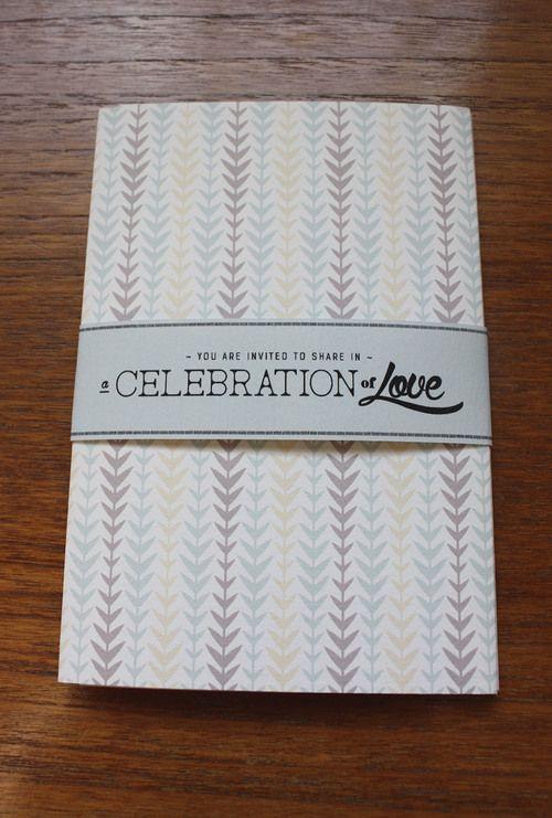 Art deco style patterns for a unique wedding invitation.