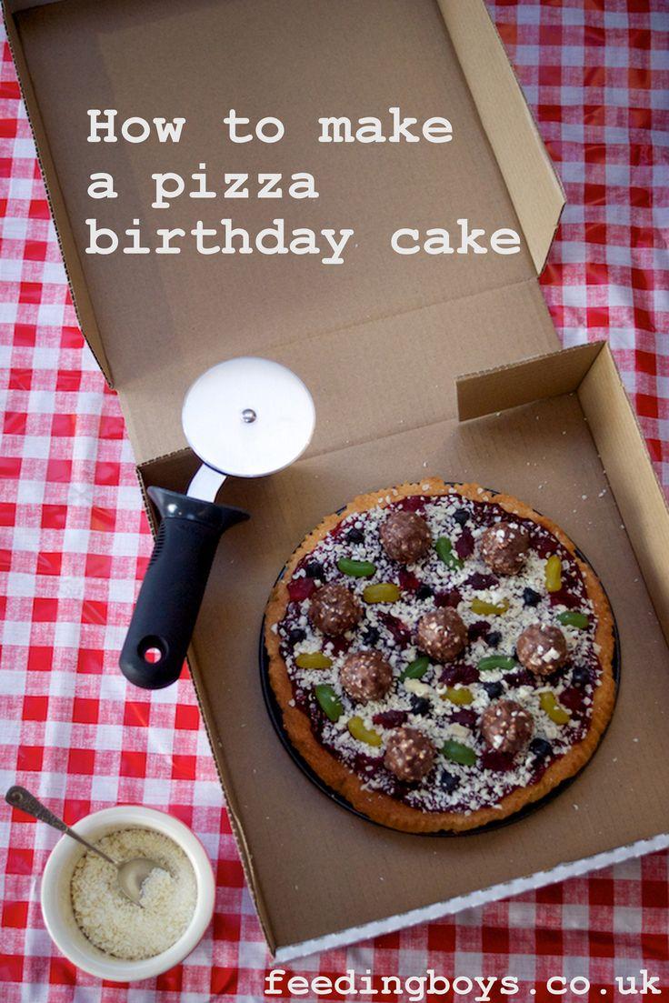 How To Make A Pizza Birthday Cake By Feedingboys