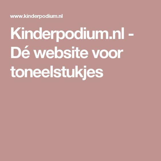 Kinderpodium.nl - Dé website voor toneelstukjes
