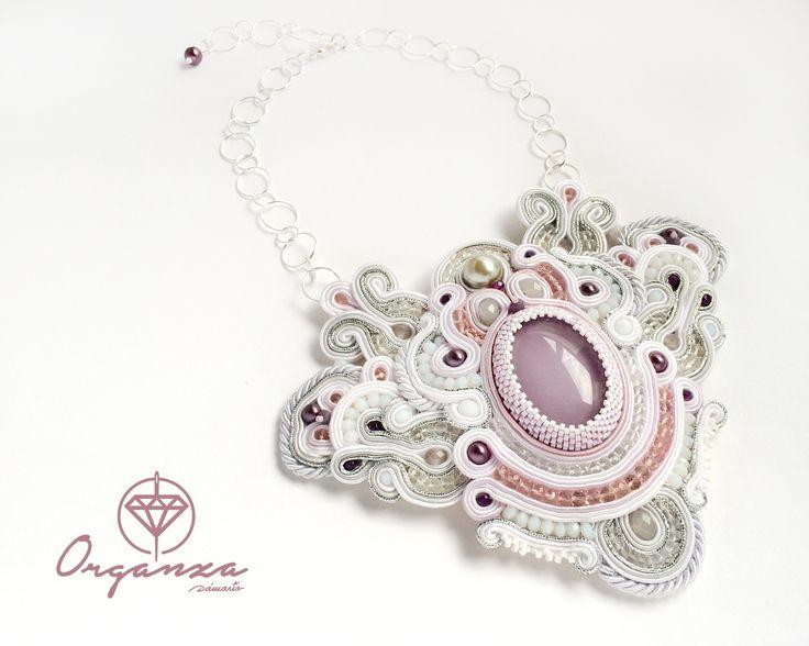 My last work in #soutache #handmadejewelry #handmade #jewelry #HauteCouture #fashion #necklace #collar #organza #damarisromera http://es.dawanda.com/shop/Damaris-Romera