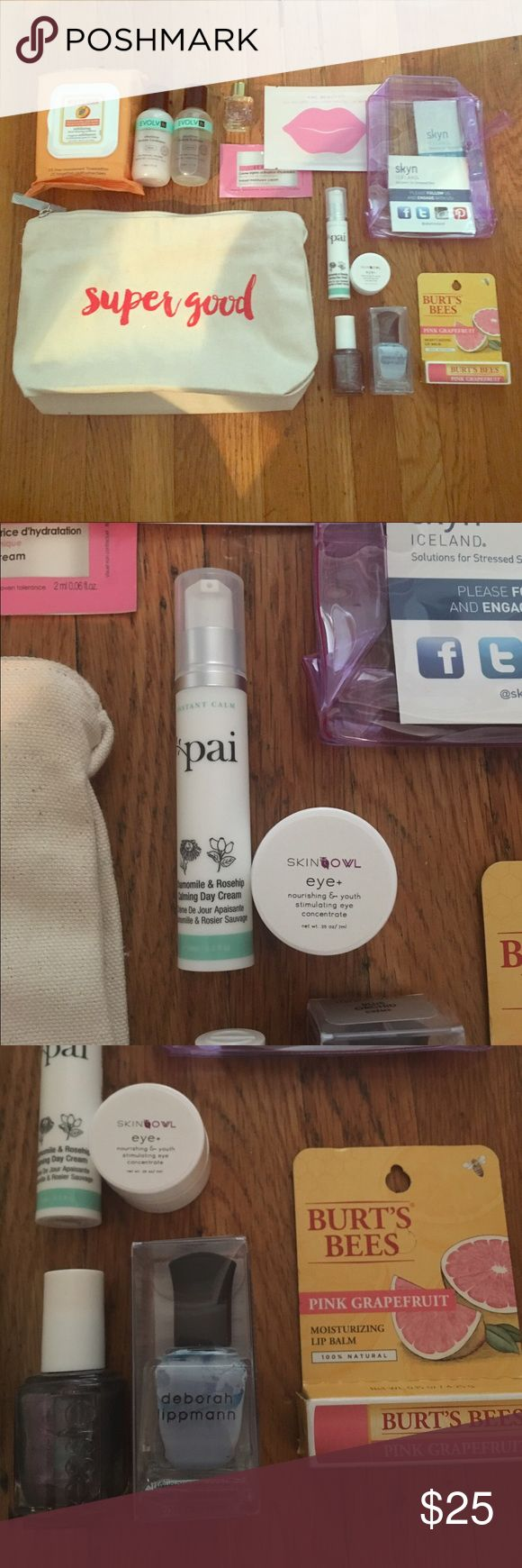 Best swag bag ever! Full of brand new goodies! Pai, Burts Bees, KNC Beauty, Lollia, and more! Makeup