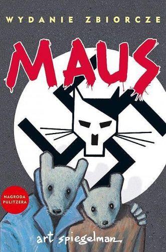 """""""Maus"""" (wydanie zbiorcze) - Art Spiegelman - komiks dla dorosłych, fragmenty można udostępnić młodzieży."""