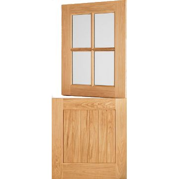 Image of Cottage Stable 4L External Oak Door - Clear Bevelled Double Glazing