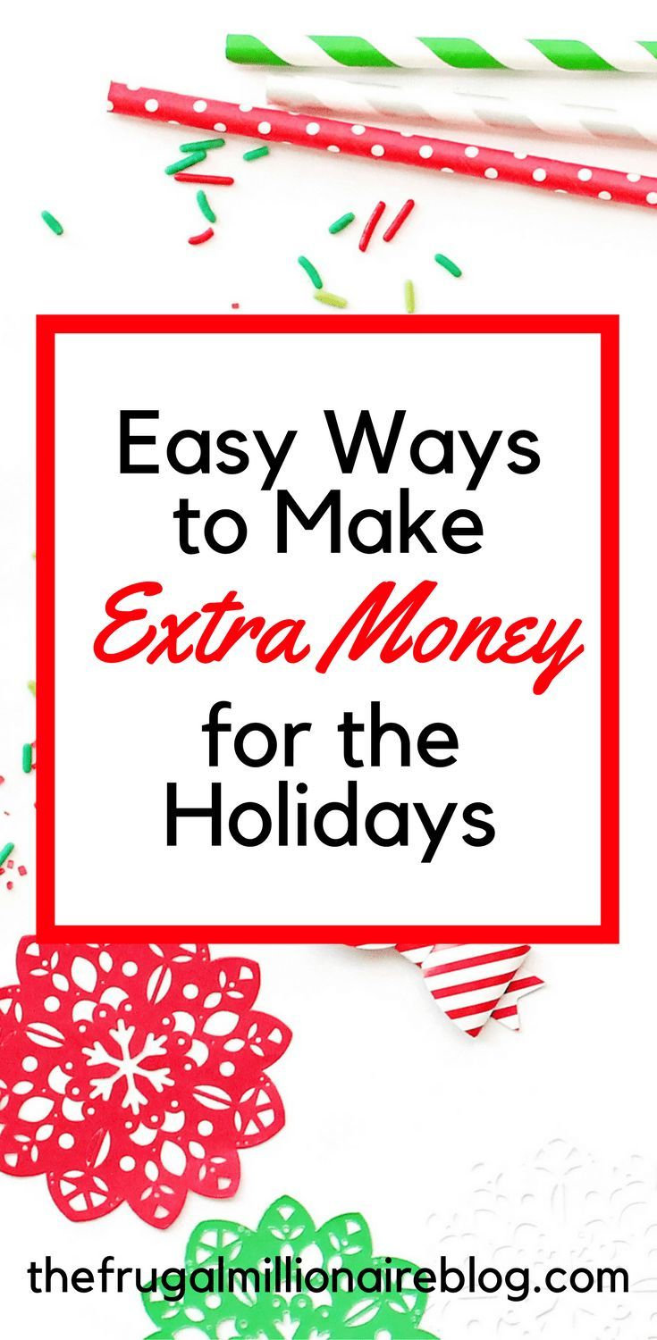 Make extra money over the holidays. How to make extra money for the holidays. Side hustles for the holidays.