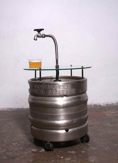 Beer barrel table