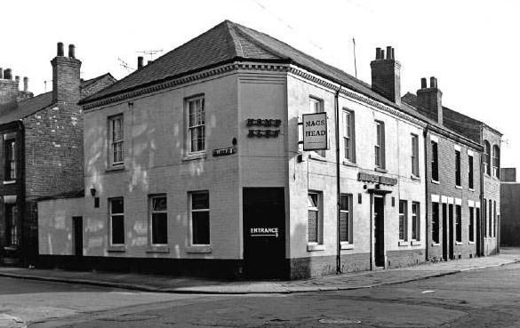 The Nags Head was a Home Ales tied house situated on Willersley Street. This pub was demolished in the 1970s. Photo 1973