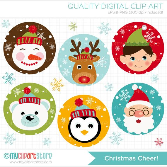 Christmas Cheer / Christmas Rounds Clip Art / by MyClipArtStore, $4.50