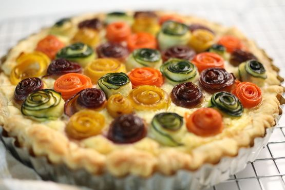 Make and share this Rainbow Rose Veggie Tart recipe from Food.com.