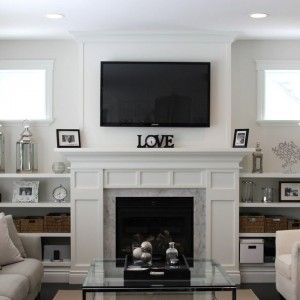 The 25 best Tv above fireplace ideas on Pinterest Tv above