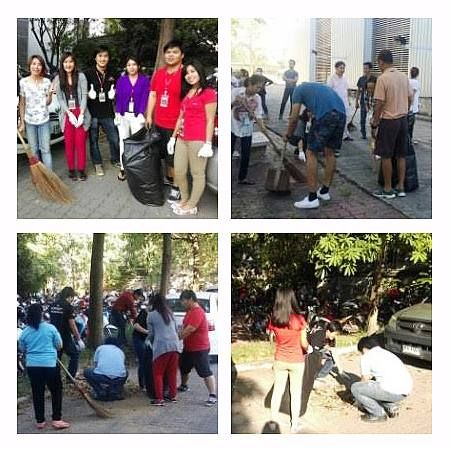 """Here's the pictures from """"Big Cleaning Day"""". Our staffs helped together to clean up at beside areas of Practika's building and also the parking lot. It is one of our yearly activities we always do for the cleaned and pleasant house. #PractikaFuelingDesignsAlive"""