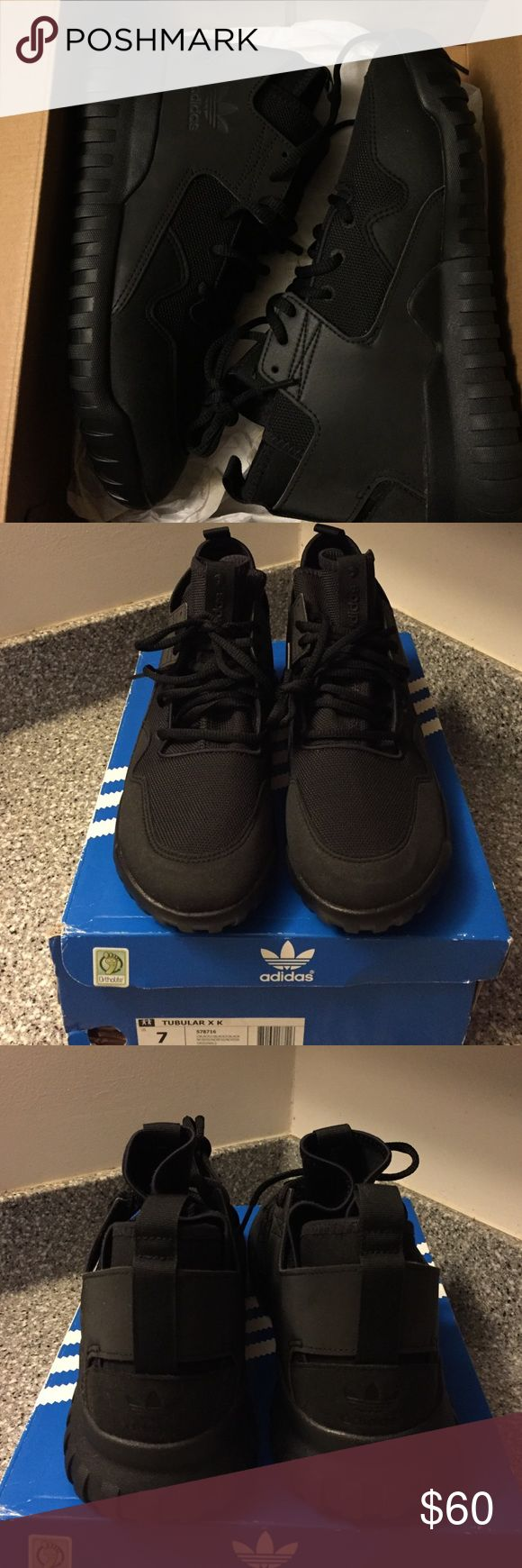 NIB Adidas Tubular Yeezy Shoes 7 8.5 New w box New in box Adidas tubular shoes.  Size 7 mens so it would fit a 8.5 in women's.  Nice Yeezy look but is the tubular style! adidas Shoes Athletic Shoes