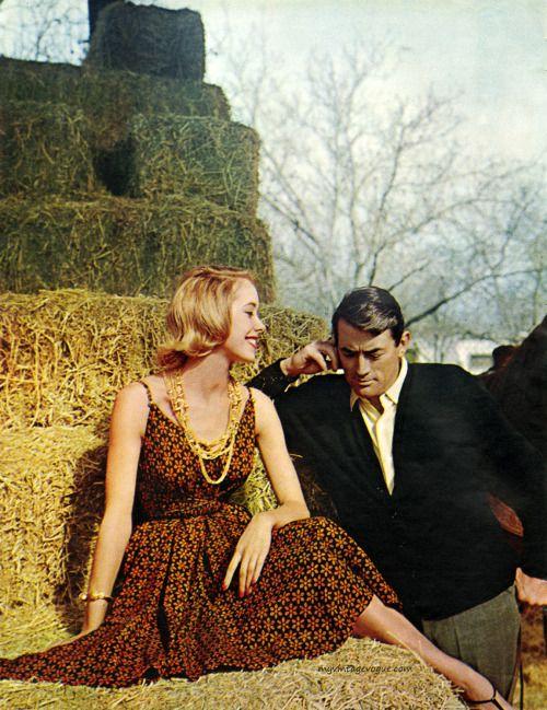 Seventeen Magazine May 1960 - Gregory Peck, photo... | myvintagevogue