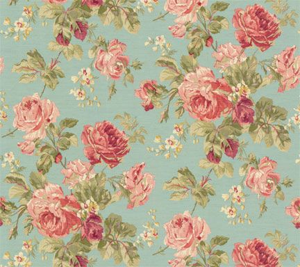 Lovely rose patterned wallpaper