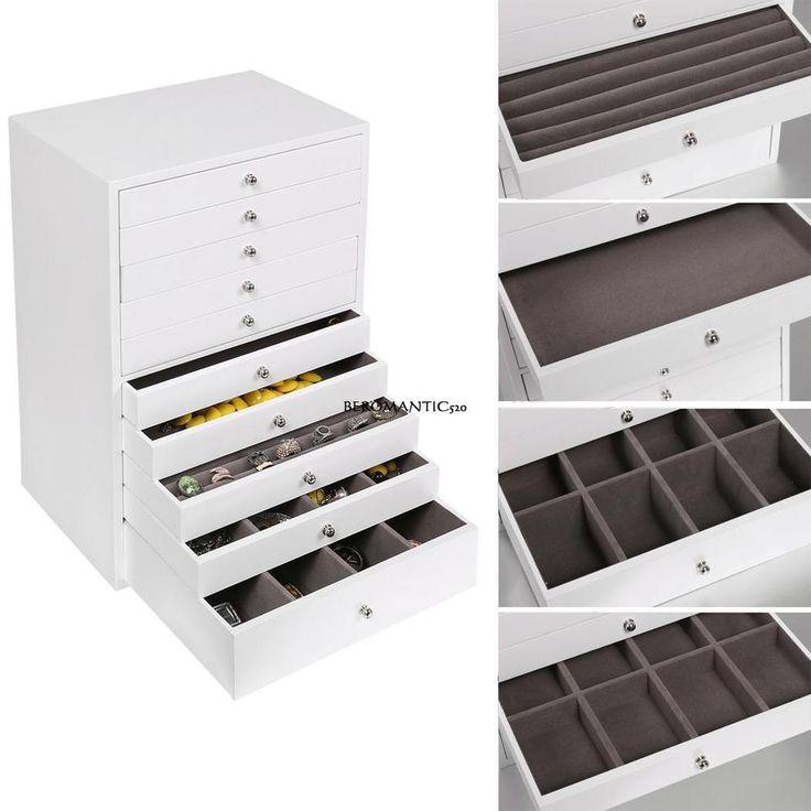 Schmuckschrank Schmuck Holz Schmuckkaste 10 Schicht mit Schubladen Uhrenbox TOP! | Uhren & Schmuck, Zubehör, Schmuckkästen | eBay!