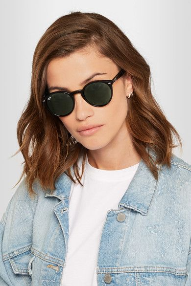 Ray-Ban - Round-frame Acetate Sunglasses - Black - one size