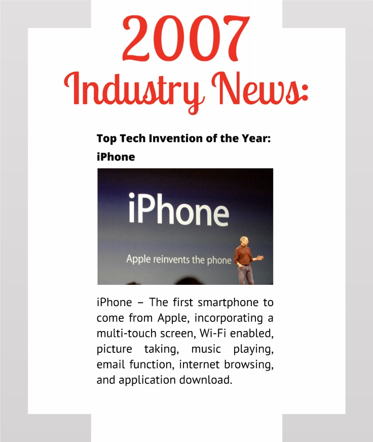 Commscare 2007 Industry News Top Tech Invention of the