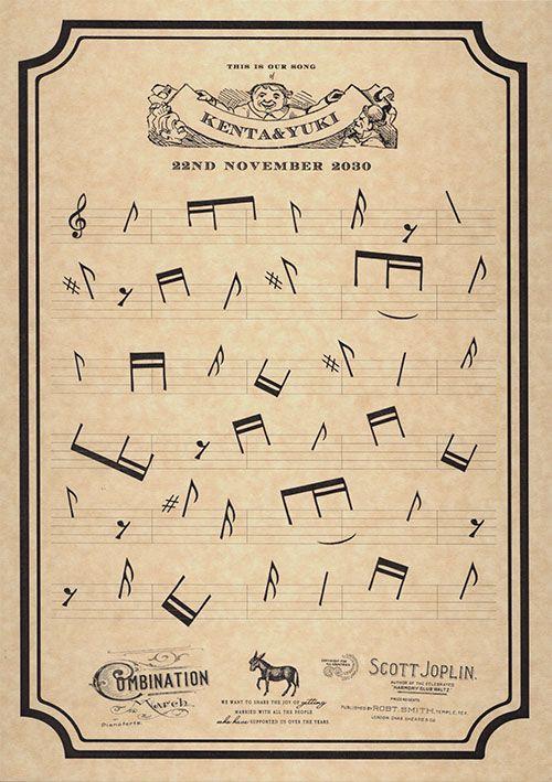 新発売 指印を押して楽譜が完成する 「ウエディングミュージック」