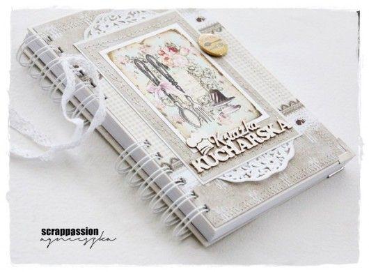 scrapbooking - albumy i notesy-notatnik kulinarny