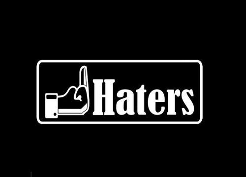 Fck haters funny jdm custom decal sticker 10 inch
