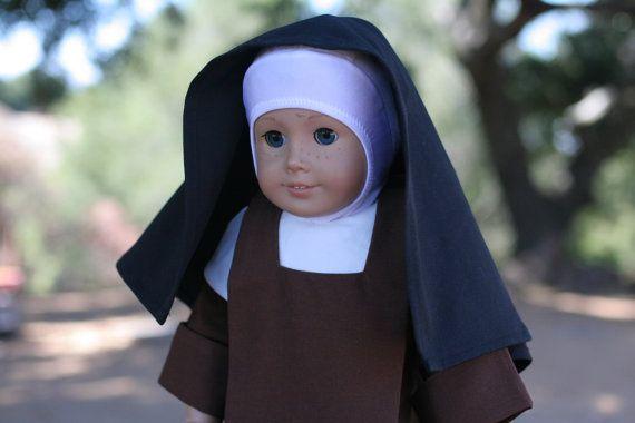 Carmelite Nun Habit 18 Doll Clothes by TheLittleHabit on Etsy for MC ***HAVE***