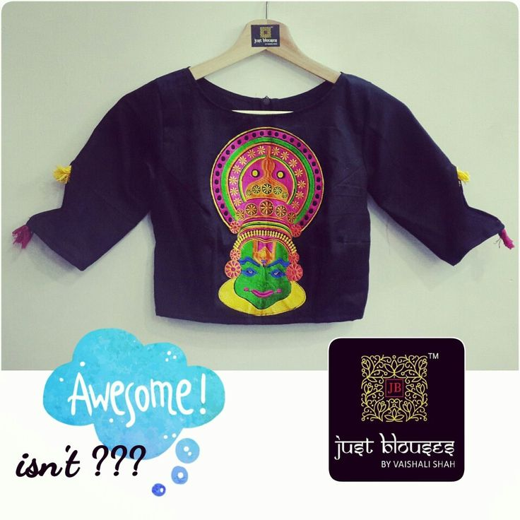KATHAKALI MOTIFF CROP # JUST BLOUSES # NEW ARRIVALS # AWESOME IT IS!!!