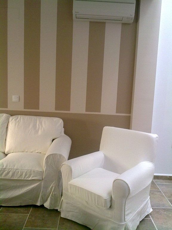 Como Pintar Pared A Rayas Fotos E Ideas Para Decorar Y Pintar Las - Pintar-paredes-a-rayas-verticales
