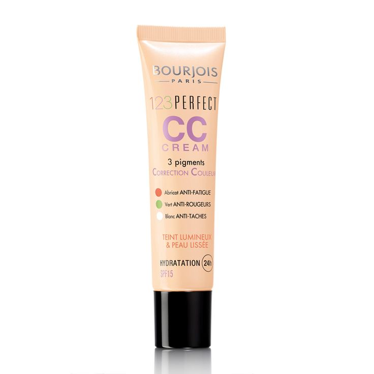 Correct and perfect your complexion with Bourjois 123 Perfect CC Cream. Its 3 colour correcting pigments give a fresh and luminous result with SPF 15 and 24 hour hydration.  - Apricot...
