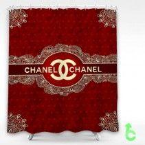 Chanel Elegant Lace Shower Curtain
