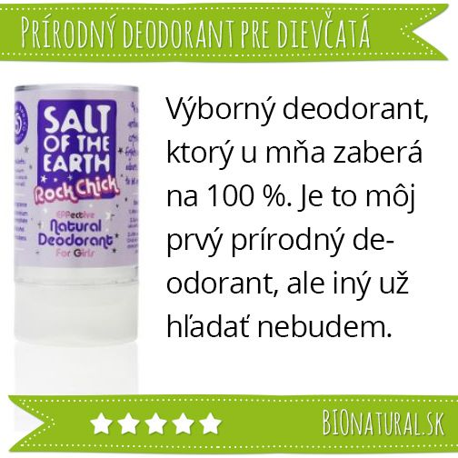 Hodnotenie prírodného minerálneho deodorantu pre dievčatá Rock Chick značky Salt of the Earth http://www.bionatural.sk/p/salt-of-the-earth-klasicky-min-deodorant-pre-dievcata-90g?utm_campaign=hodnotenie&utm_medium=pin&utm_source=pinterest&utm_content=&utm_term=soote_rockchick