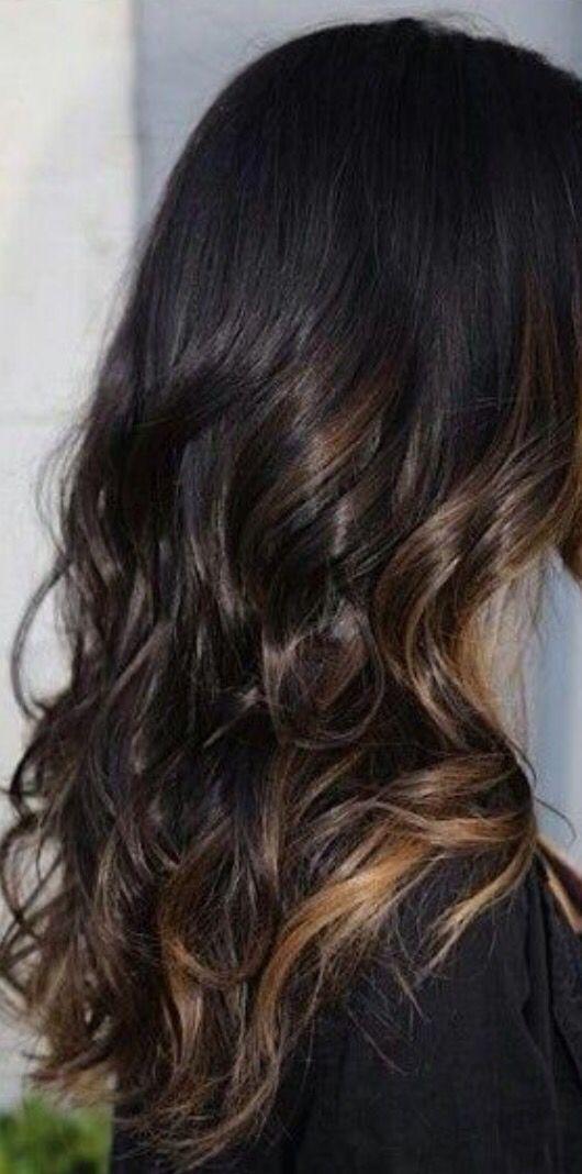 Hair- peek a boo highlights