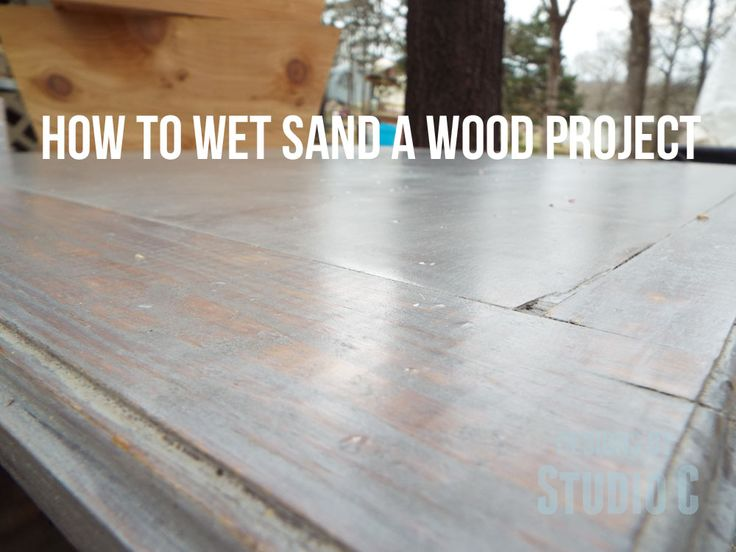 How to Wet Sand a Wood Finish Do you ever wonder how some woodworkers get an amazing smooth as glass finish on their projects? Sanding. Yes, definitely, and while most of us hate it, it is a necess...