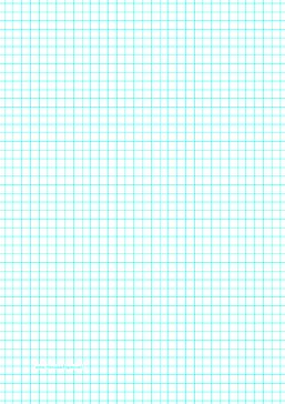 This A4 graph paper has four aqua blue lines per inch. Free to download and print