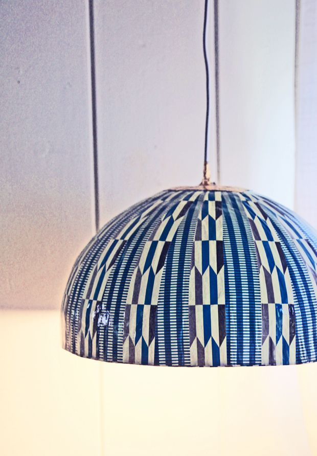 5 minute south african pendant lamp diy papier mache for How to make paper mache lamps