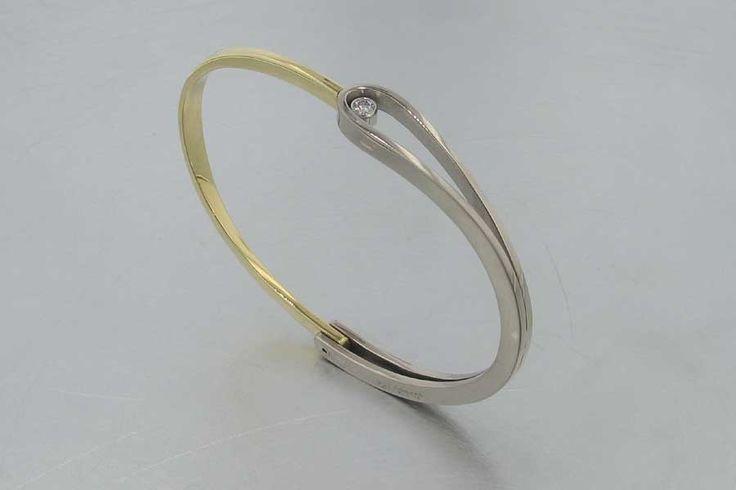 Hinge bracelet | Jewelsmith Designs.  Diamonds, 18k yellow gold and 18k white gold