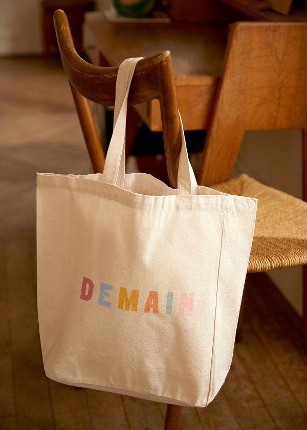 Download Sezane Totebag Demain Tote Bag Canvas Bag Design Custom Tote Bags