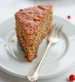 Boerekos met 'n Twist: Okkerneut koek / Walnut cake / Karythópitta