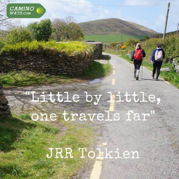 """""""Little by little, one travels far"""" - JRR Tolkien #MotivationMonday"""