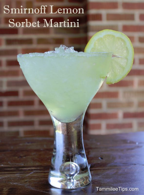 Smirnoff Lemon Sorbet Martini Recipe
