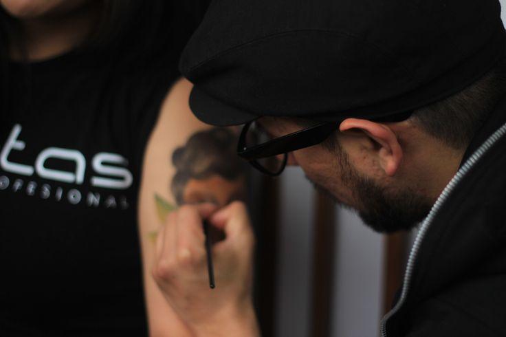 Tatuajes temporales con Caretas Maquillaje  x WALO