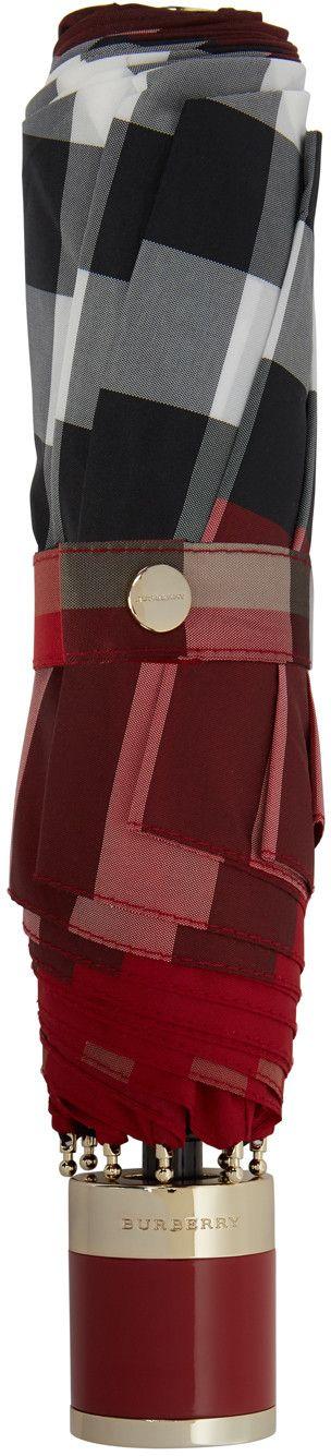 Burberry - Red Check Trafalgar Umbrella