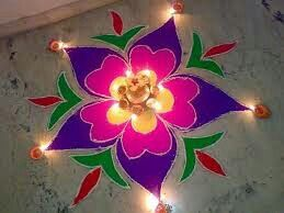 On occasion of diwali i make this beautiful rangoli