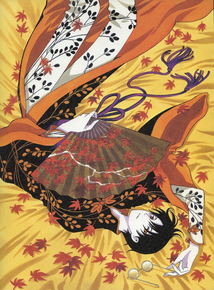 CLAMP, xxxHOLiC, Watanuki Kimihiro, Fan, Glasses In Hand, Glasses Off