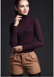 2016 New Women Cashmere Sweater Women fashion Autumn and Winter Warm Turtleneck Sweater Women Pullover Free Shipping