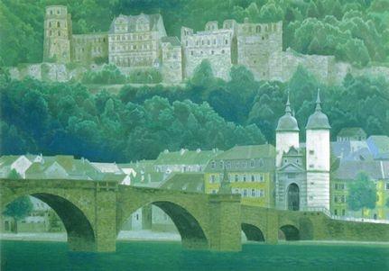 Kaii Higashiyama, Japanese painter. Heidelberg, Germany