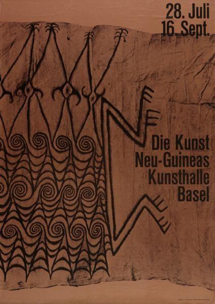 28. Juli - 16. Sept. - Die Kunst Neu-Guineas - Kunsthalle Basel-Plakat Gestaltung: Armin Hofmann