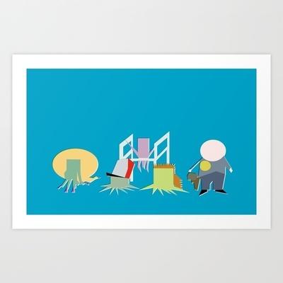 Minimal Squidbillies Art Print by Bill Pyle - $15.00