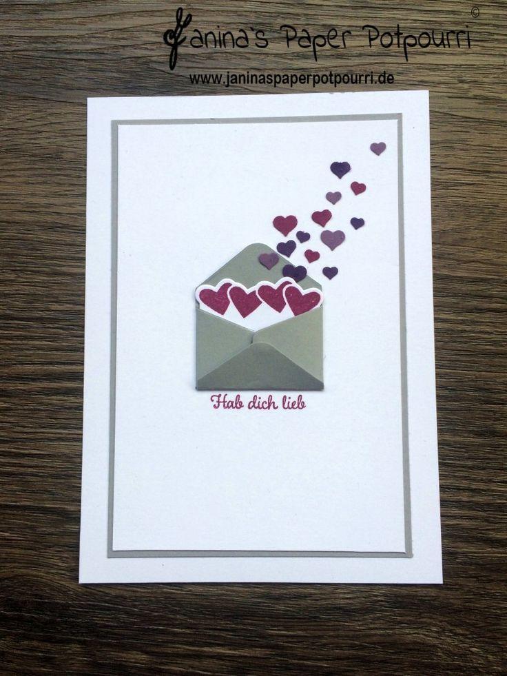 Jpp   Karte Briefumschlag Mit Herzchen / Card Letter / Hearts / Valentineu0027s  / Valentinstag /