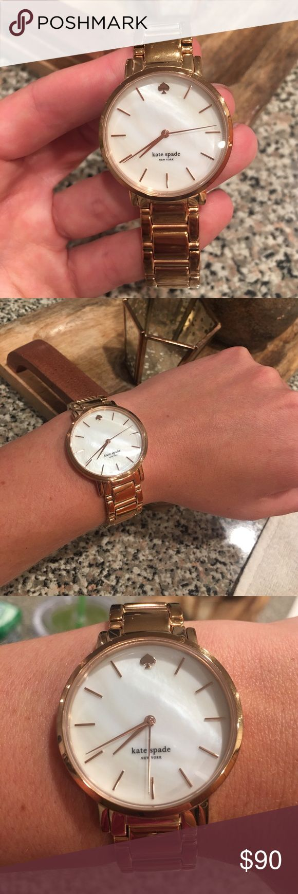 Rose gold watch by Kate Spade Beautiful Ross gold watch by Kate Spade! I do not have the extra links, however those can be ordered!! kate spade Accessories Watches