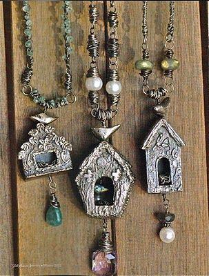 Art Clay Silver  Birdhouses