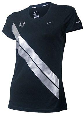 Nike USATF Women's Miler Short Sleeve Running Shirt